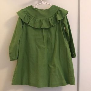 JACADI green cord dress - girls